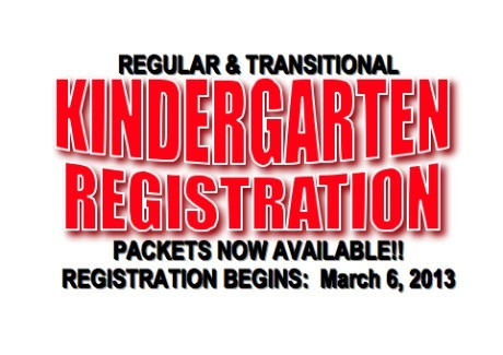 TK & Kinder Registration 2013